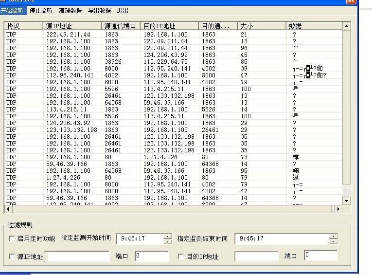 毕业论文课程设计源码实例-VC_001Sniffer 端口扫描 网络监控 嗅探器截图