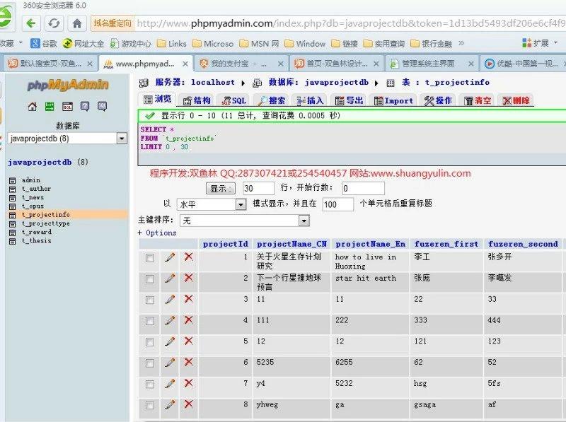 毕业论文课程设计源码实例-373JSP054基于SSH2的高校科研管理系统截图